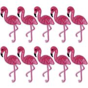 10 X Flamingo Embroidery Appliques Free Post