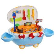 Fishing Game Fish Toys Fishing Set Cart Plastic Toy for Kids over 3 Year
