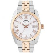 *SAVE £220* Rotary Lausanne Silver & Rose Gold Two Tone Wristwatch
