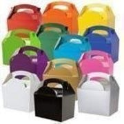 Pack of 15 Coloured Party Boxes Free Del