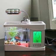 Anself Mini USB LCD Desktop Lamp Fish Tank Aquarium LED Clock