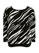 Black and White Zebra Print Jumper - 64% Off Only £10