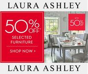 50% off FURNITURE at Laura Ashley