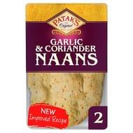 Pataks Garlic and Coriander Naan Bread 2 Pack