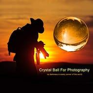 Photograph Lens Ball with Pouch, K9 Crystal Suncatchers Ball