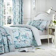 Dreams & Drapes - Tulip - Easy Care Duvet Cover Set - King, Duck Egg