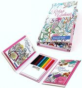 The Coloring Therapy, Relax with Color Art , One's Travel Set Book