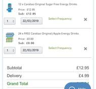 Carabao Sugar Free Energy Drink 36 Cans