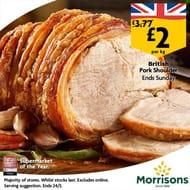 British Pork Shoulder Joints For £2 instore