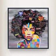 Voiks Graffiti Street Wall Art Portrait Oil Painting Printed on Canvas