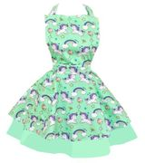 Cupcake Heaven Womens Unicorn Sweetheart Apron