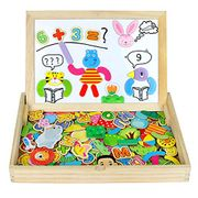 Wooden Jigsaw Puzzles Magnetic Drawing Board Game