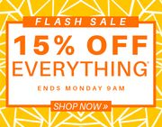 Flash Sale 15% Off!