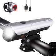 Dularf Bike Lights Set USB Rechargeable LED Bike Lights