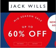 Up to 60% off at JACK WILLS