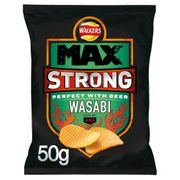 TODAY ONLY Walkers Max Strong Wasabi 50g Popular Product 6 for £1.00