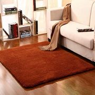 Solid Color Mat Living Room Bedroom Wool