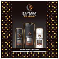 Lynx Dark Temptation Trio Men's Gift Set with Body Wash, Body Spray