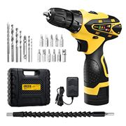 URCERI Cordless Electric Drill Kit 2000 mAh 16.8V Lithium-Ion Battery