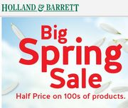 350+ PRODUCTS 1/2 PRICE NOW - Holland & Barrett Spring Sale - 50% OFF