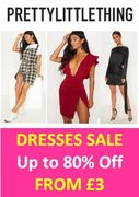 SALE DRESSES at PRETTY LITTLE THING - from £3!