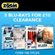 3 Blue-Rays for £10 over 150 Titles at Zoom