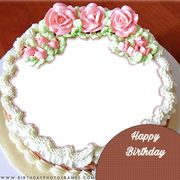 Birthday Cake with Name and Photo Editor