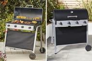 BARGAIN! Tesco Barrel Four Burner Gas BBQ & Cover