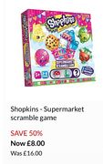 Shopkins - Supermarket Scramble Game