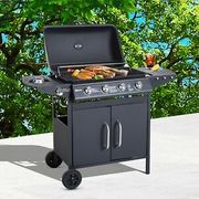 Outsunny Gas BBQ Grill 4 + 1 Stainless Steel Burner