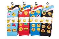 12 Pairs Emoji Socks Size 4 - 7