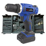 Pro-Craft by Hilka 18V Li-Ion Cordless Drill with 89-Piece Accessory Kit