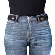 Buckle Free Belt for Women Men Invisible Elastic Stretch Belt for Jeans Pants