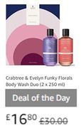 DEAL OF THE DAY: Crabtree & Evelyn Funky Florals Body Wash Duo