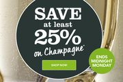 Save at Least 25% on Champagne