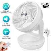 Desk Fan 6.8m/s Powerful Air Circulator Turbo Fan(50% off Voucher)