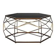 Glass Top Geometric Coffee Table 25% off Offer Discount Applied at Checkout