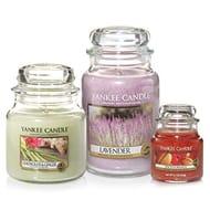Yankee Candle 3 Jar Set with Large Jar Lavender, Medium Jar & Small Jar