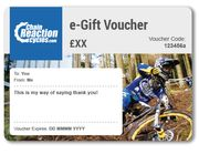 Gift Vouchers from £1 at Chain Reaction Cycles