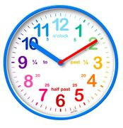 Children's Learn to Tell the Time Clock