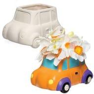 Car Ceramic Flowerpots Box of 2