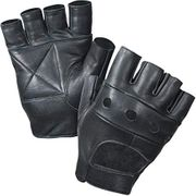 Fingerless Leather Cycle Biker Gym Gloves Price:£3.49 - £13.99
