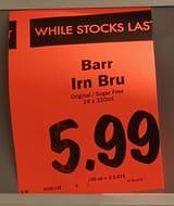 Irn Bru Original/ Sugar Free 24 Pack 330ml cans@Lidl In-Store