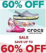 Up to 60% off in the CROCS SALE
