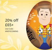 20% off £65 Spend
