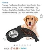 Powcan Slow Feed Dog Bowl on Amazon £5.50 RRP £10.99