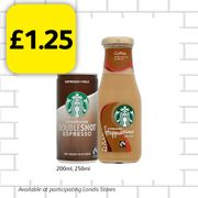 A Starbucks to go...only £1.25