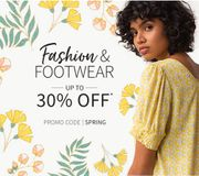 Get up to 30% off Fashion, Footwear and Home & Garden. 40% off Kidswear