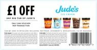 Judes Ice-Cream £1 off with Printable Voucher