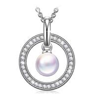Swarovski Princess Nina Guardian of Love Sterling Silver Necklace